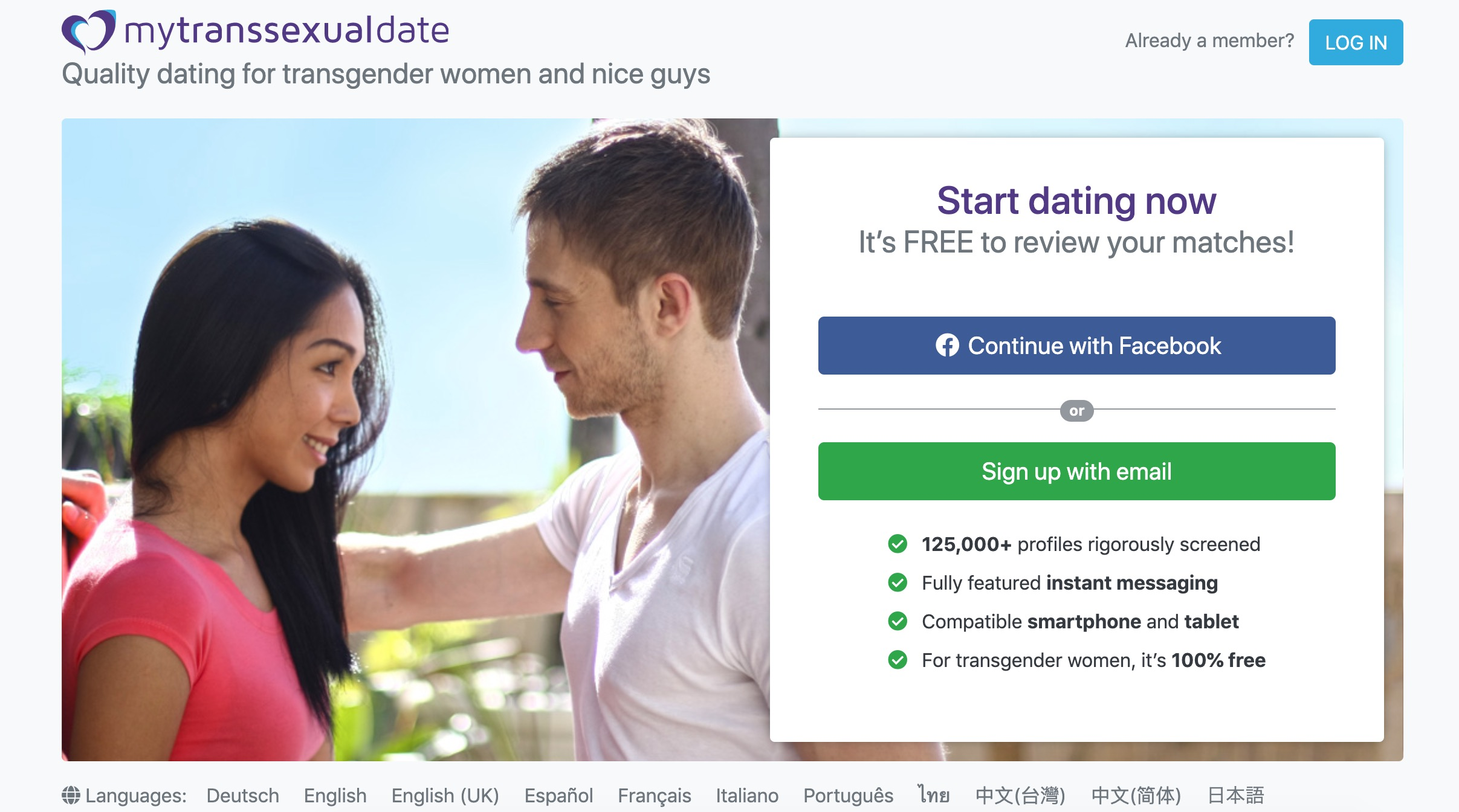 MyTransSexualDate main page